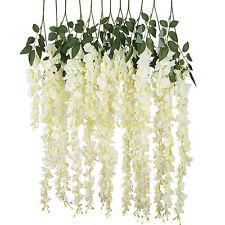 Luyue Artificial Silk Wisteria Vine Ratta Hanging Flower Wedding Decor 3.18 Feet