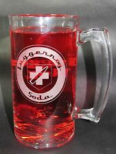 Juggernog Etched Glass Beer Mug. Hand Made COD Zombies Inspired Jugger-Nog Mug