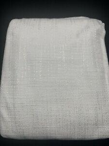 "Single Restoration Hardware Italian Textured Weave Curtain RP 120"" x 50"" White"