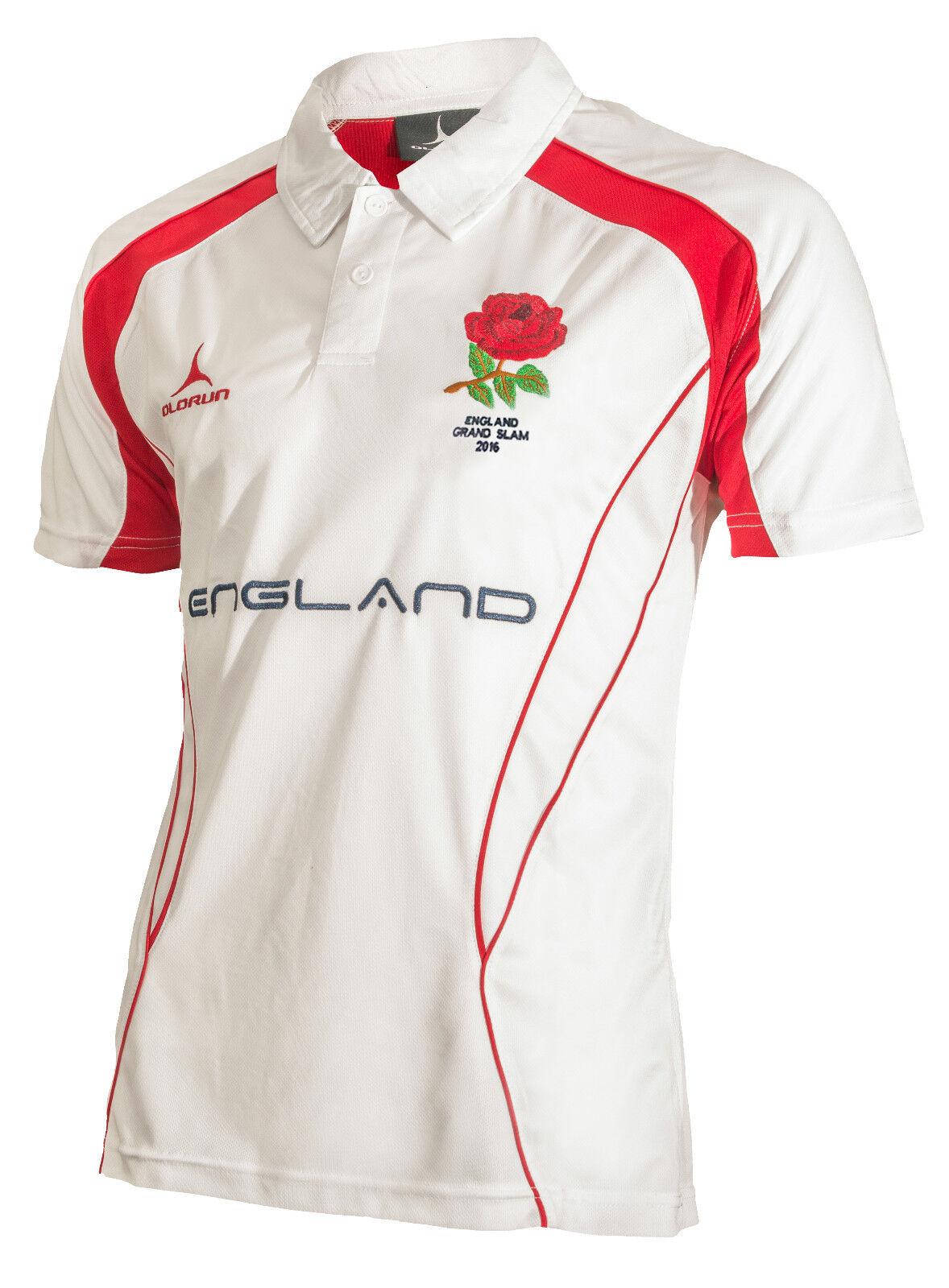 Olorun Olorun Olorun 6 Six Nations Grand Slam 2016 England Unterstützer Kultig Polohemd S-XXXL 941807