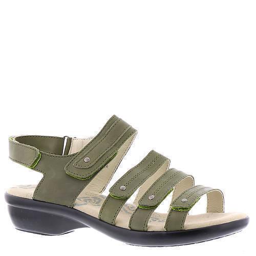 Zapatos de Cuero Propet para Mujer Sandalias Aurora-verde Oliva-Charol - 8.5 - Nuevo En Caja