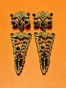 8c0ee11e160da9 Image is loading Vintage-Etruscan-Revival-Style-Enamel-Earrings