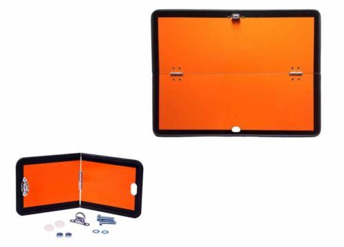 CDR rdc warntafel set, 400x300 + 300x120 plegable escudo mercancías peligrosas naranja acero
