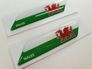 Wales-Welsh-cymru-70mm-exterior-badges-x2-Decals-Stickers
