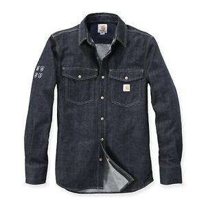 CARHARTT-Uomo-Camicia-protective-demin-jeans-camicia-work-shirt-molto-resistenti