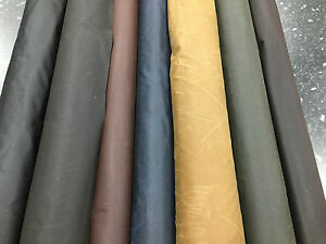 WAXED COTTON CANVAS Fabric Made in UK Breathable Antique Berber soft finish