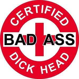 Image Is Loading 3 Red Certified Bad Ass Dick Head 2