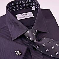 Best Black Formal Shirt Mini Twill Stripe Business Dress Evening Dinner Event Gq