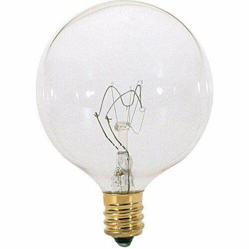 A3922 25 watt G16 1//2 Incandescent Candelabra Base 130 Volts Light Bulb 6pc
