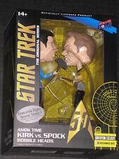 STAR TREK AMOK TIME KIRK VS. SPOCK COMIC CON EXCLUSIVE BOBBLE HEAD SET W SOUND
