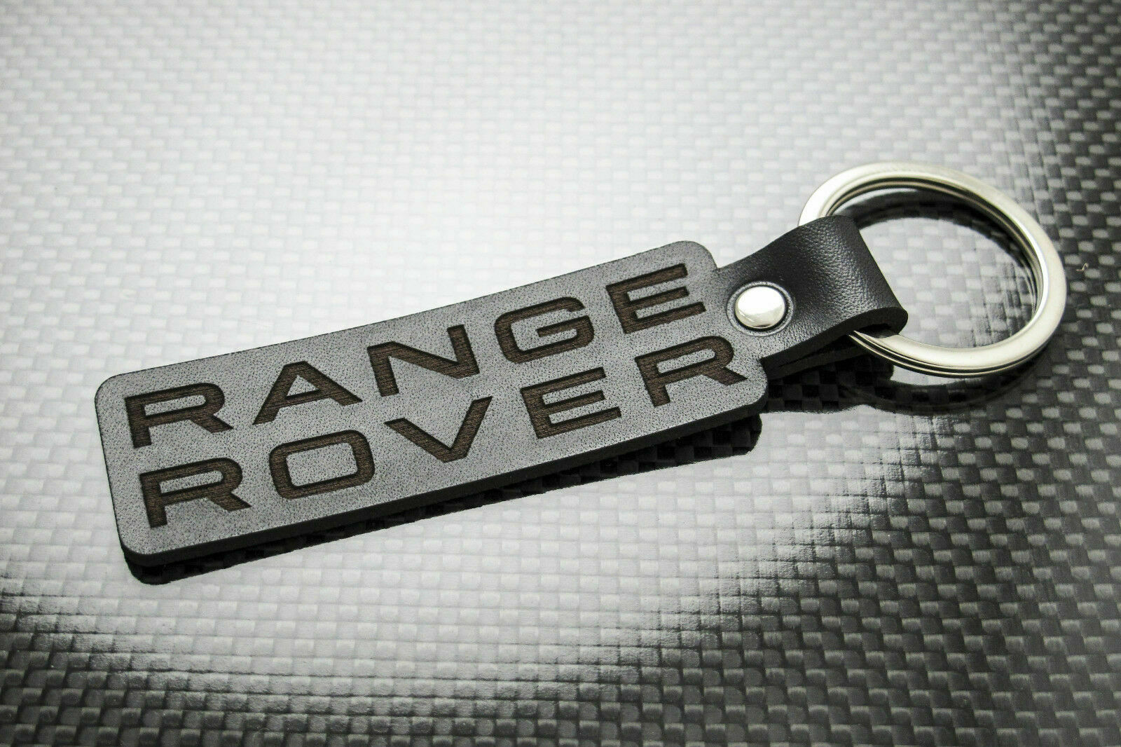 Black High Quality Keychains Car Logo Leather Key Ring Accessorie For Land Rover