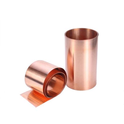 1pcs 0.03 x 100 x 1000mm 99.9/% Pure Copper T2 Cu Metal Sheet Foil Plate Strip