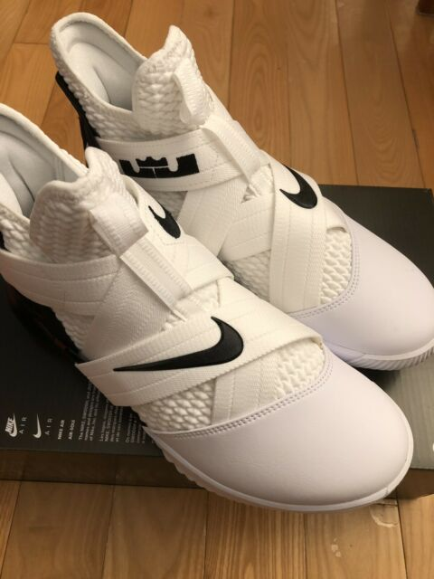 the latest ace59 829fe Nike Lebron Soldier 12 XII Oreo White Basketball Shoes ...