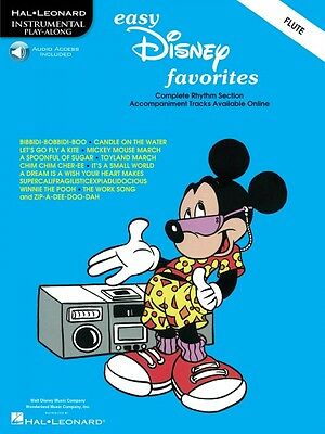 Audio New 000841371 Relieving Heat And Sunstroke Musical Instruments & Gear Easy Disney Favorites Flute Play-along Pack Solo Trax Book Wind & Woodwinds