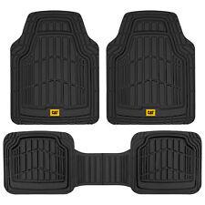 Cat Black 3pc All Weather Car Floor Mats Liners Heavy Duty Rubber Deep Dish Fits 2003 Honda Pilot