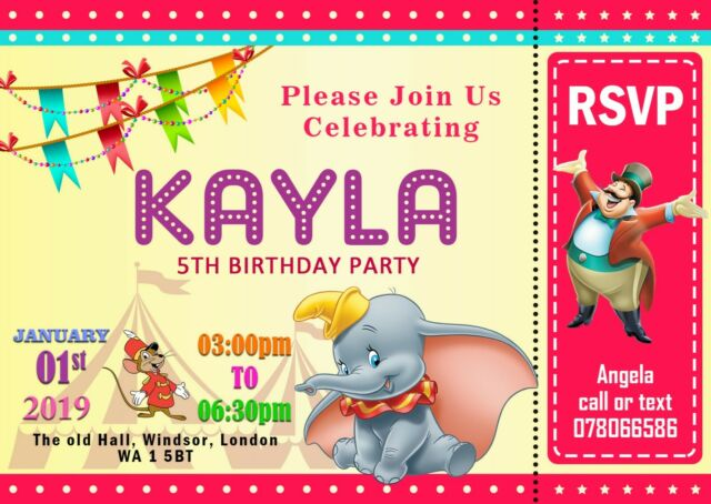 8 x Circus Animals Invitations /& Envelopes Childrens Birthday Party Invites
