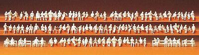 Il Migliore Preiser 79007 Spur N, Sede Fine Persone, 120 Unbemalte Personaggi (1:160), Kit-mostra Il Titolo Originale Acquista One Give One