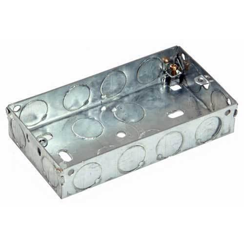 Flush mount metal double électrique arrière case 35mm