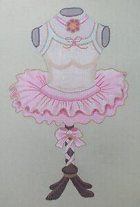 Lani-Pink-Ballerina-Tutu-Costume-Dress-Form-Needlepoint-Canvas-Ballet-HP-18m