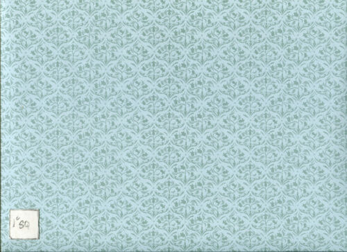 Art Nouveau Sea Green JM61 wallpaper Jackson/'s Miniatures dollhouse 1pc