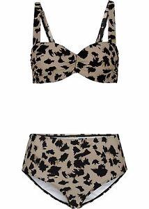 Damen-Buegel-Bikini-Strand-Leo-2-tlg-Set-in-Braun-Cup-75-38-B-Balconette-NEU