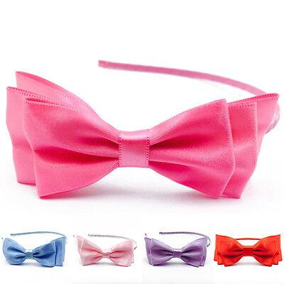 Lady Girl Big Bowknot Ribbon Hair Accessory Headband Bow Head Band Clip New Cute