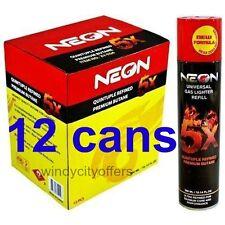 Neon 5x (12 pack) box Gas Refill Butane Universal Fluid Fuel  Refined 300ml