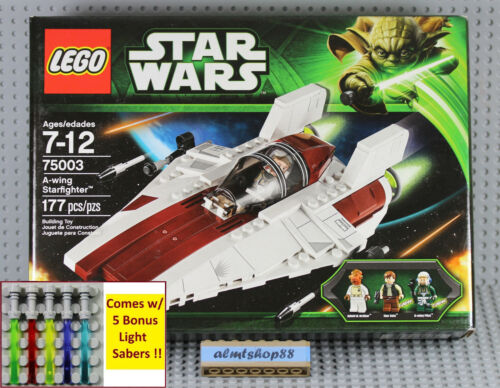 LEGO Star Wars 75003 A-Wing Starfighter NISB Han Solo Ackbar FACTORY SEALED