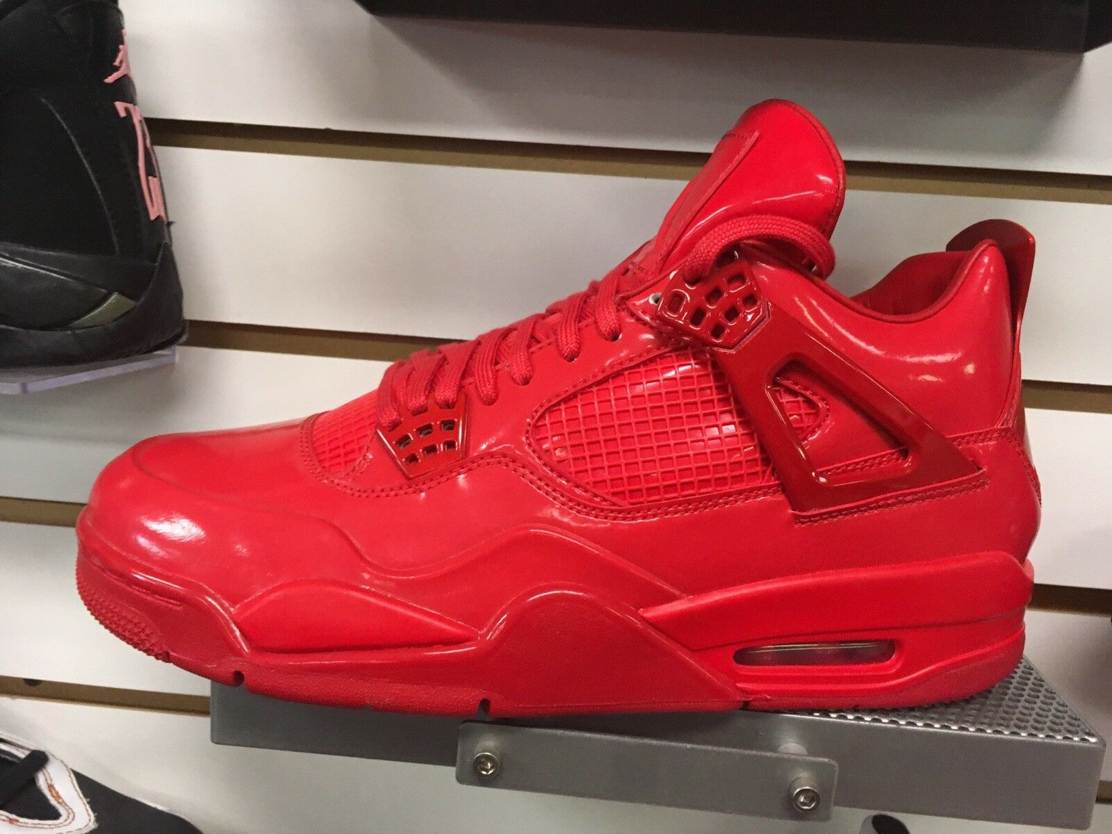 Nike mens shoes Air Jordan 4 11labfour Patent Leather Red Red Red Size Eleven 2e4e0b