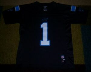 wholesale dealer 5b013 e0c41 Details about AUTHENTIC NFL Replica CAM NEWTON Carolina Panthers BLACK  JERSEY Youth/Boys M l