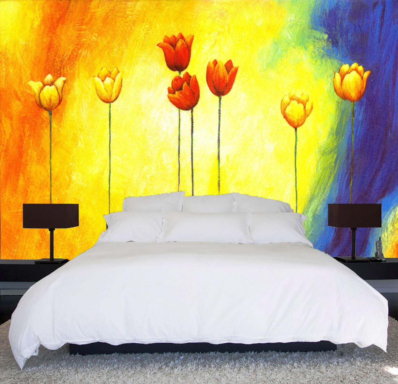 3D Regenbogenfarbe Tulpen  85 Tapete Wandgemälde Tapete Tapeten Bild Familie DE   Spielen Sie auf der ganzen Welt und verhindern Sie, dass Ihre Kinder einsam sind    Spielen Sie Leidenschaft, spielen Sie die Ernte, spielen Sie die Welt    Günstige Beste