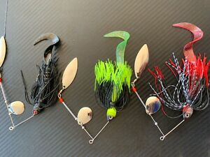 3x-1-2oz-Murray-Cod-Spinnerbaits-14g-Blade-Spinner-Bait-Lures-Bass-Yella-Perch-1