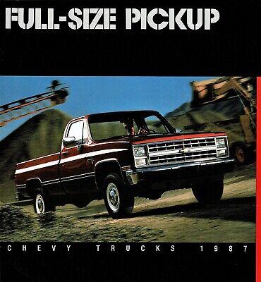 1987 Chevrolet Silverado Custom Deluxe Full Size Pickup Truck Sales Brochure