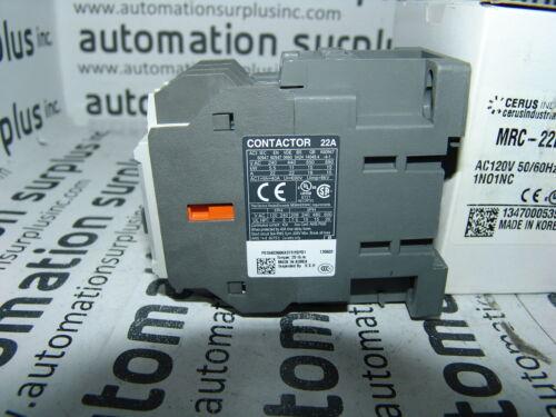 CERUS MRC-22bS MRC-22B 3PH 600V 20HP 120V COIL 1NO1NC CONTACTOR *NEW *QUANTITY!!