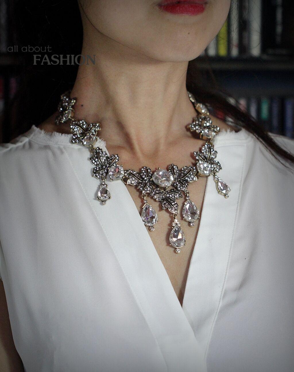 Collar Dorado collar Cristal Gota Hoja Boda Novia Original OSC 1