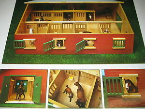 pferdestall 1 24 f r schleich pferde stall kids globe holz pferdeboxen ebay. Black Bedroom Furniture Sets. Home Design Ideas