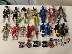 Vintage 1994 Bandai Power Rangers Action Figure and Power Bike Lot