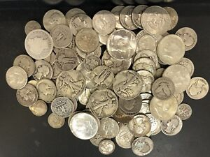 Half Dollars Quarters /& Dimes Many Designs L1 $12 Face Value 90/% Silver Coins