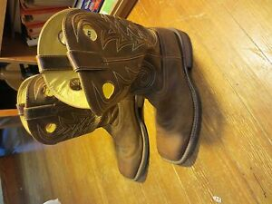 84d43b23843 Details about Rocky Men's 12 Inch Handhewn Western Boot Size 13 M FQ0004982  Square Toe Minty