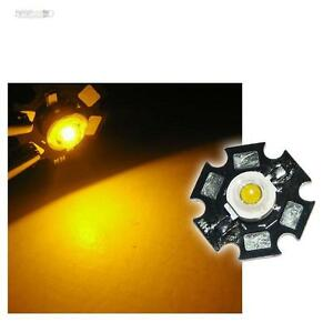 5x-Hochleistungs-LED-Chip-1W-GELB-HIGHPOWER-STAR-LEDs