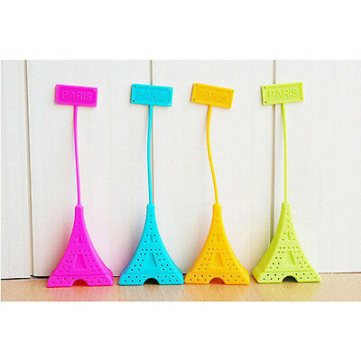Cute Silicone Tea Bag Eiffel Tower Loose Infuser Strainer Herbal Spice Filter