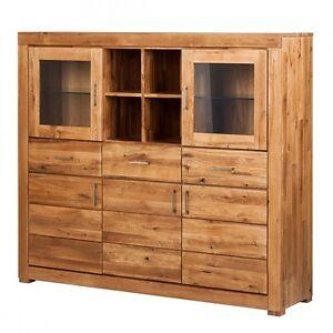 highboard schrank wildeiche eiche massiv ge lt holz neu ovp ebay. Black Bedroom Furniture Sets. Home Design Ideas