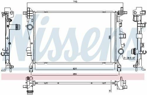 motor refrigeración 606447 para jeep Fiat Nissens radiador