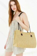 NEW URBAN OUTFITTERS NEUTRAL STRAW ROPE TOTE BAG NWT