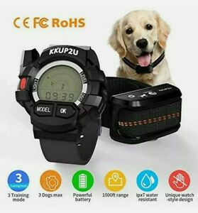Remote Dog Training Collar 330yd Rechargeable and Waterproof with Watch Remote