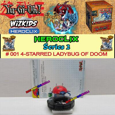 Yu-Gi-Oh Heroclix Series 2 001 4-Starred Ladybug of Doom