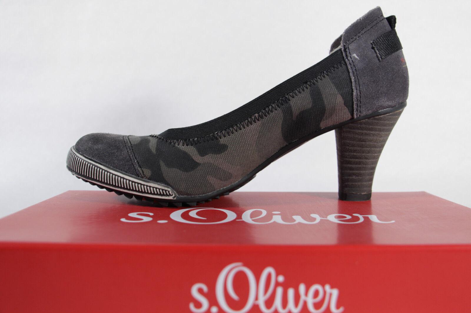 S.Oliver  Damen Pumps Slipper  S.Oliver oliv,  Lederinnensohle, NEU dc8c19