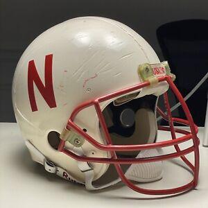 Nebraska-Cornhuskers-Game-Used-Vintage-Riddell-Football-Helmet-University