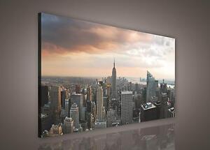 leinwand bild wandbild bilder pp155o1 new york stadt wolkenkratzer 100x75cm ebay. Black Bedroom Furniture Sets. Home Design Ideas