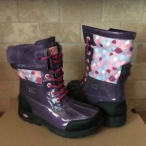 7f8a02bdd1d Details about UGG Butte Patent Leather Purple Multi Snow Boots Size 4 Girl  Youth fits Women 6